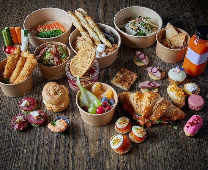 various take away food