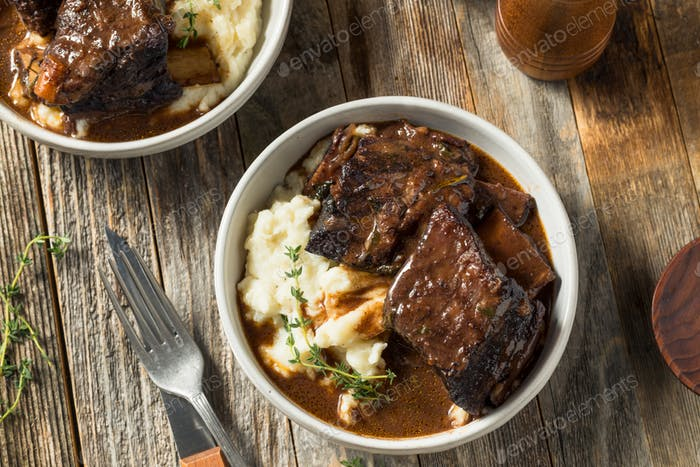 Homemade Braised Beef Short Ribs