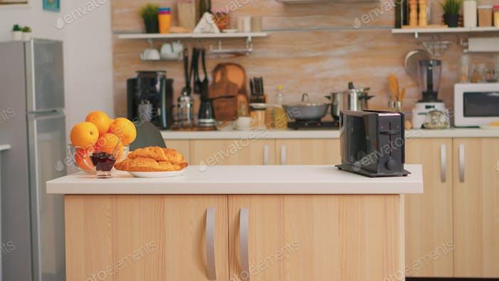 Moderne Küche mit niemandem darin