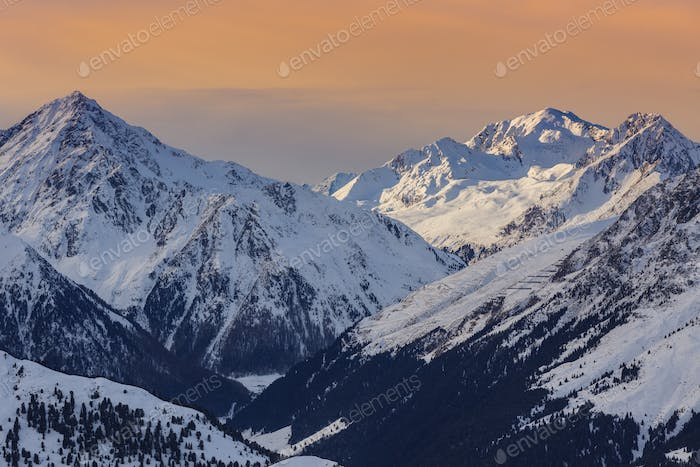 winter mountain landscape in Austria