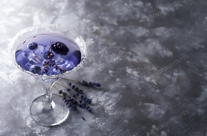 Thumbnail for Lavender martini with berries