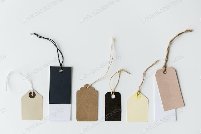 Etiquetas de precio mockup