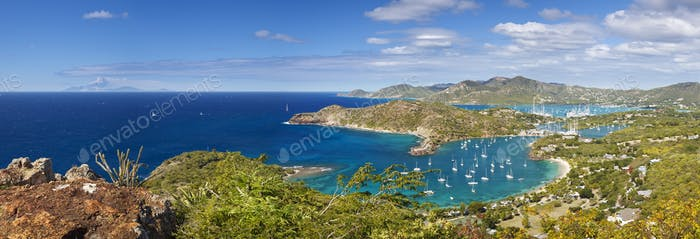 English Harbour Panorama, Antigua