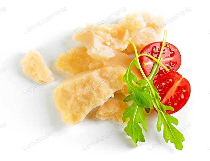 Stücke von Parmesan