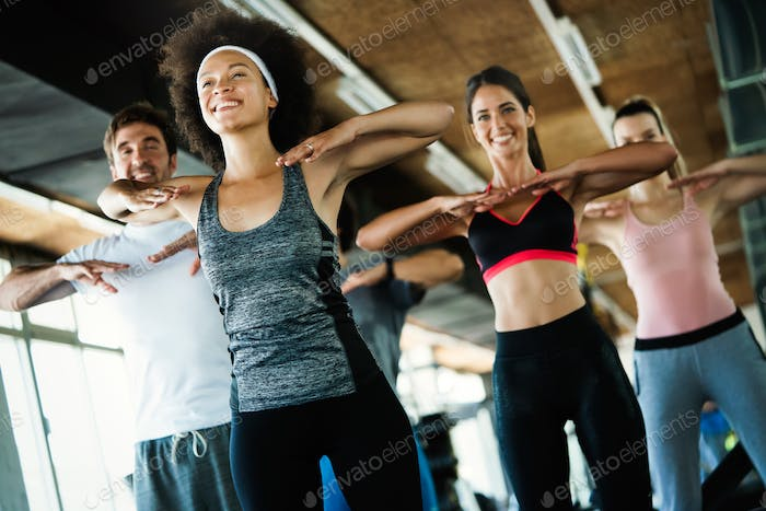 Fitness, sport, training, gym, success and lifestyle concept