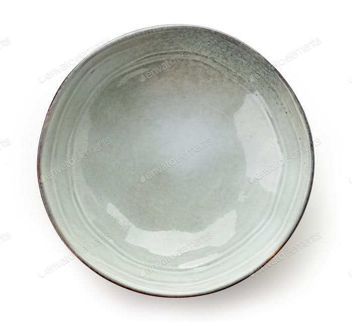 Empty grey bowl