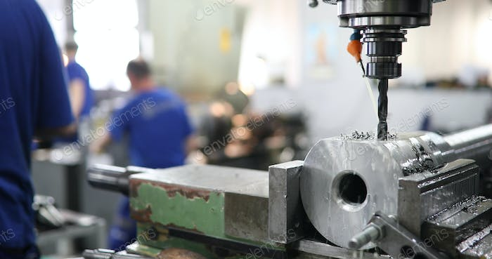 Cnc metal milling lathe machine in metal industry