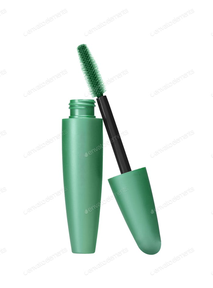 makeup inks brush isolated on white background