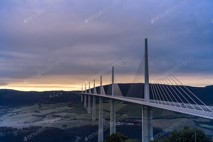 Viadukt Millau in Frankreich