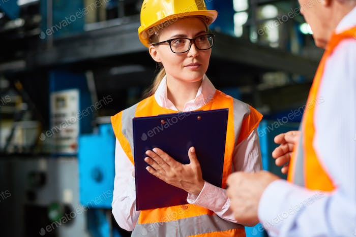 Safety Inspection at Factory Workshop