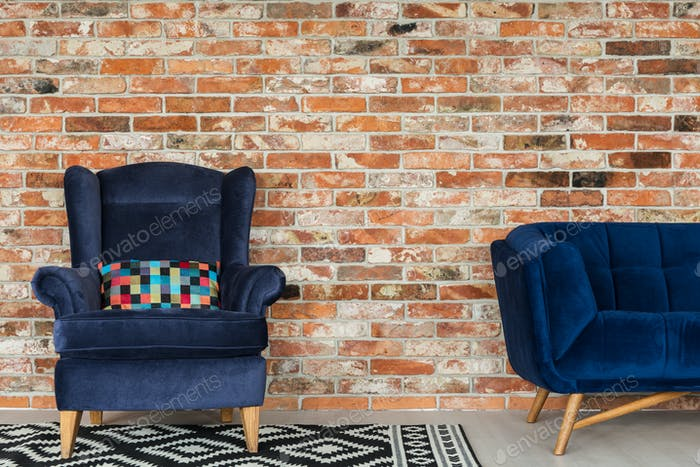 Armchair and sofa