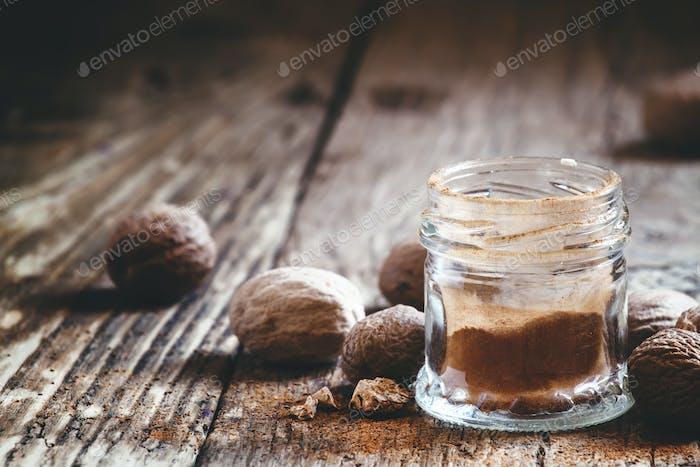 Ground or whole nutmeg