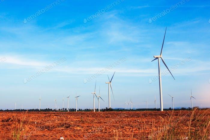 Landwirtschaftliche Flächen mit Windkraftanlagen