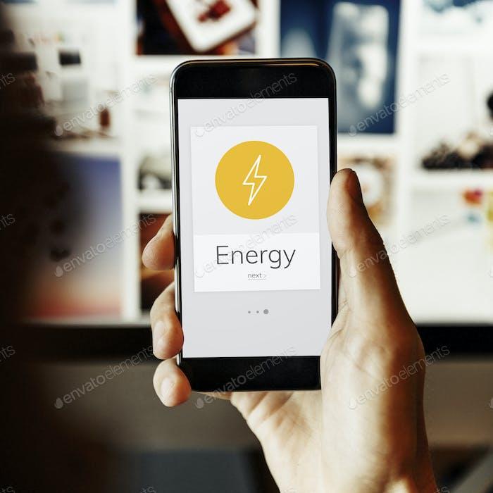 Lighting Bolt Power Energiesparende Grafik
