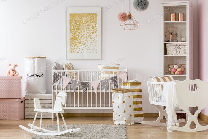Scandi style baby room