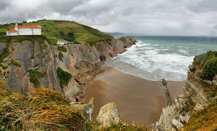 Flysch Coast in Zumaia, Basque country, Spain
