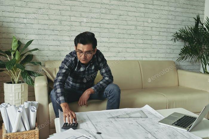 Arbeiten an Wohnungsbauprojekt