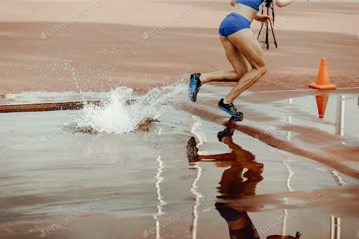 steeplechase female athlete