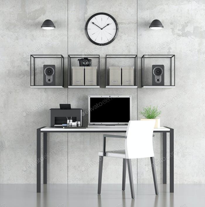 Minimalistischer Arbeitsraum