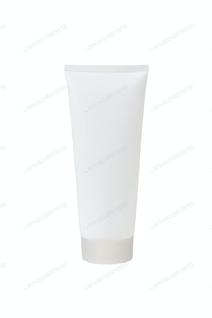 Tube für kosmetische Creme, Gel oder Pulver, isoliert auf weiß