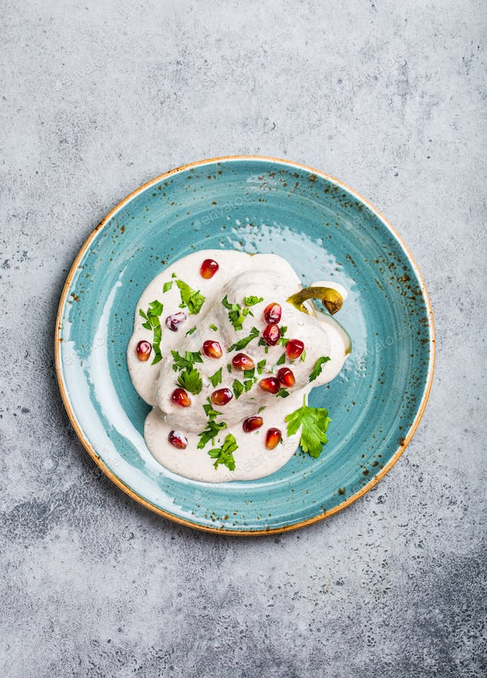 Chiles en nogada, dish on Mexican Independence Day