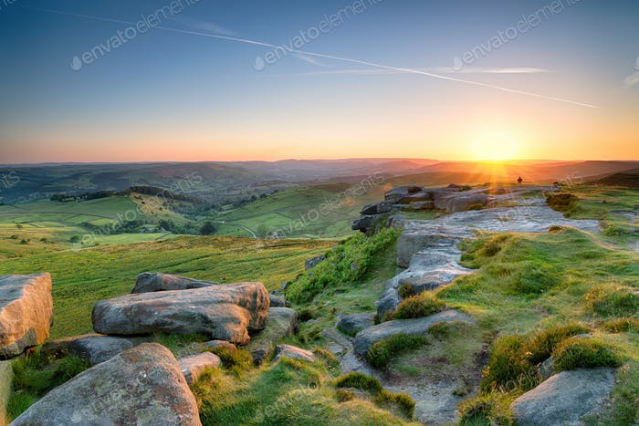 Sunset from Higger Tor