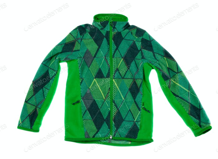 Green fleece jacket