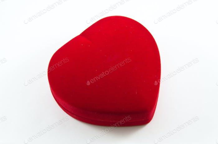 Red Velvet Silk Box for Engagement