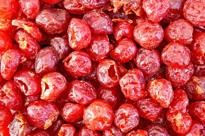 Candied cherry texture