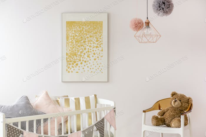 Baby nursery trendy minimalist poster