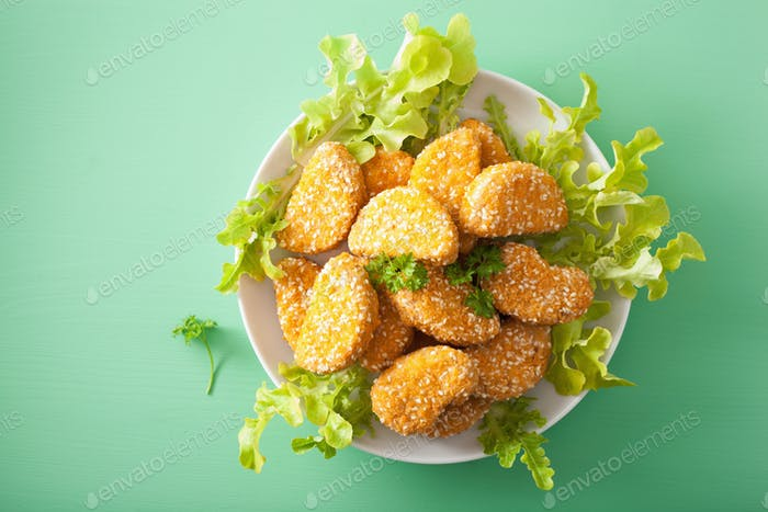 vegan soy nuggets healthy meal