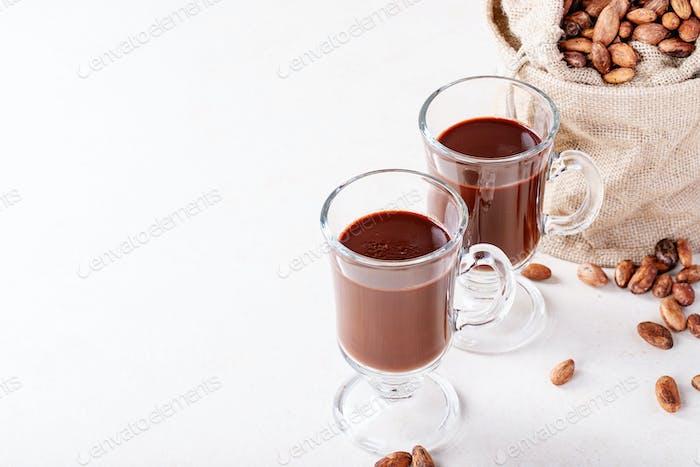 Homemade hot chocolate drink