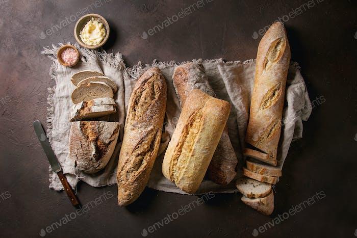 Variety of Artisan bread