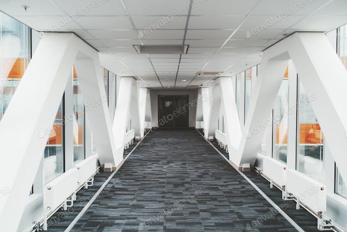 Bright passageway between buildings