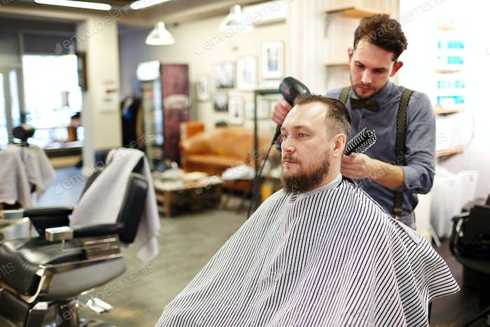 Visiting barber shop