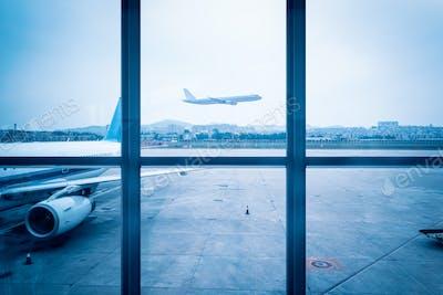airport window scene