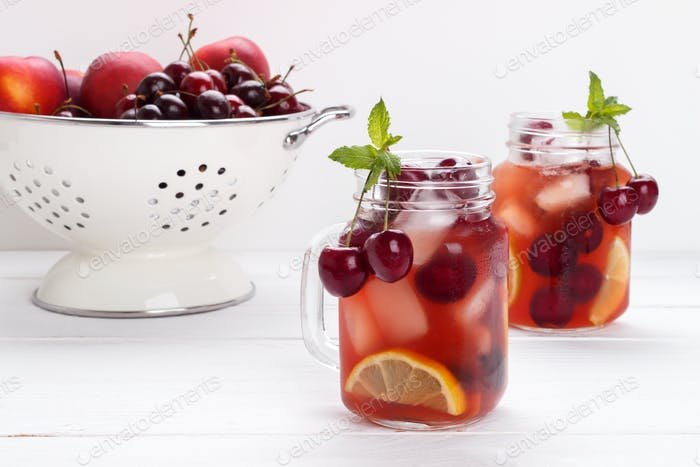 Cherry infused water