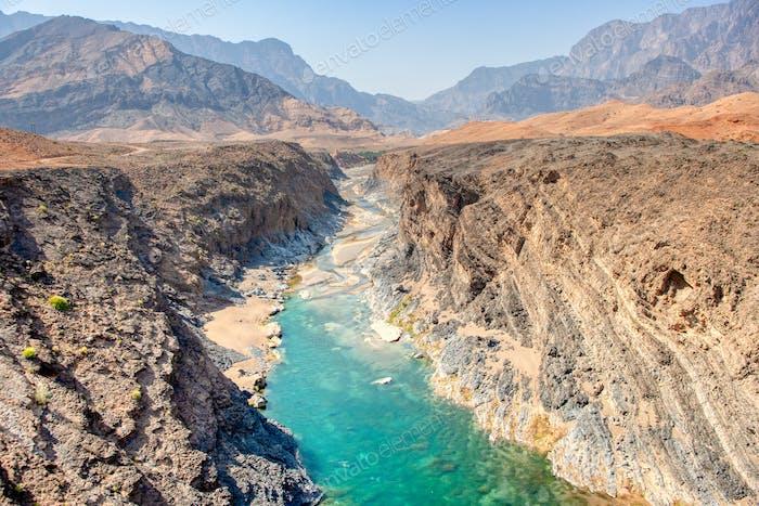 Wadi Dyqah in Oman