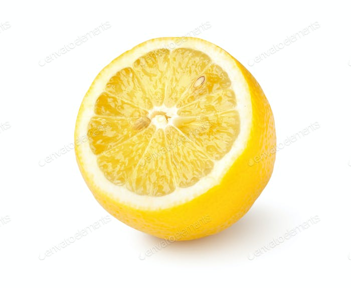 Reife Zitrone isoliert