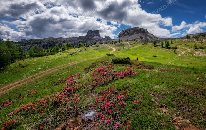 Mountain landscape of the Dolomites mountains
