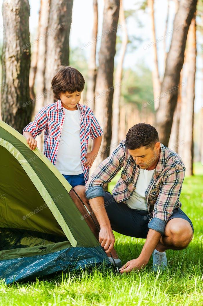 Aprender los conceptos básicos de acampar.