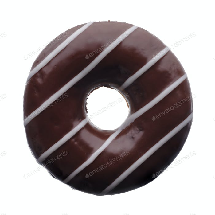 Dark chocolate donut