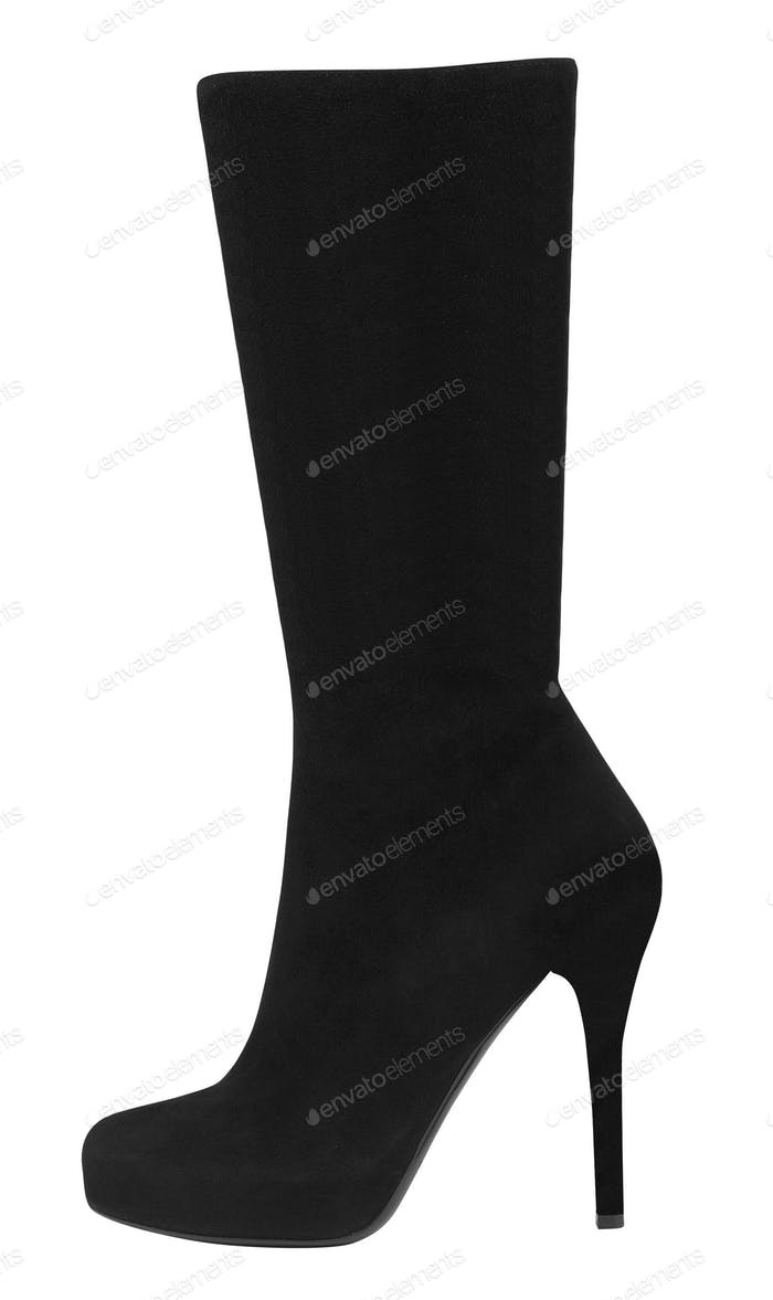 black suede boots autumn