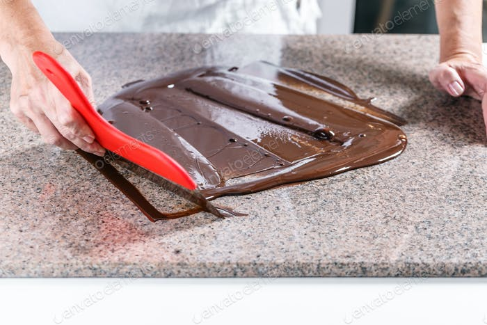 Smudging melted chocolate