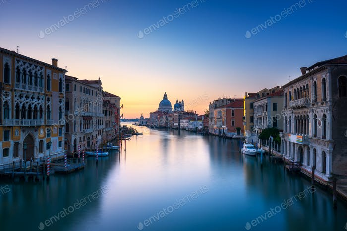 Canal Grande Venedig, Santa Maria della Salute Kirche Wahrzeichen in