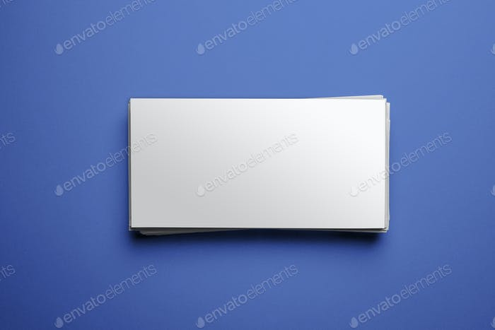 Blank corporate identity on blue background. Clipping path inclu