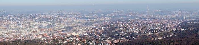 Panorama view of Stuttgart city, Germany