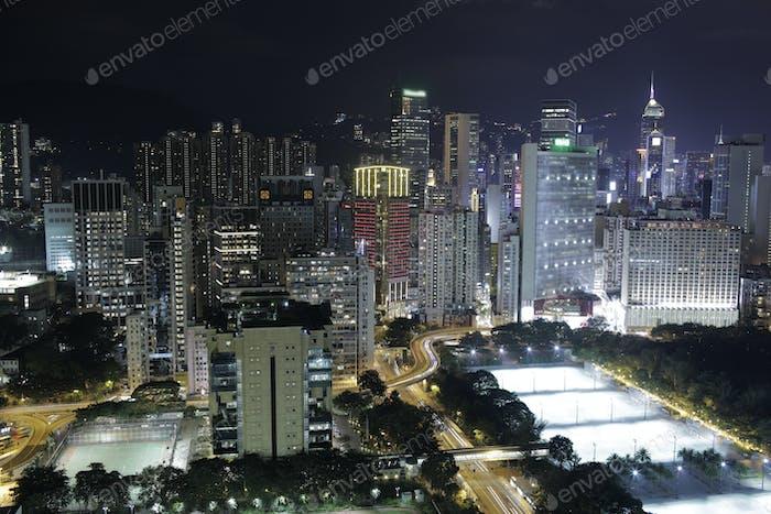 Night life in Hong Kong
