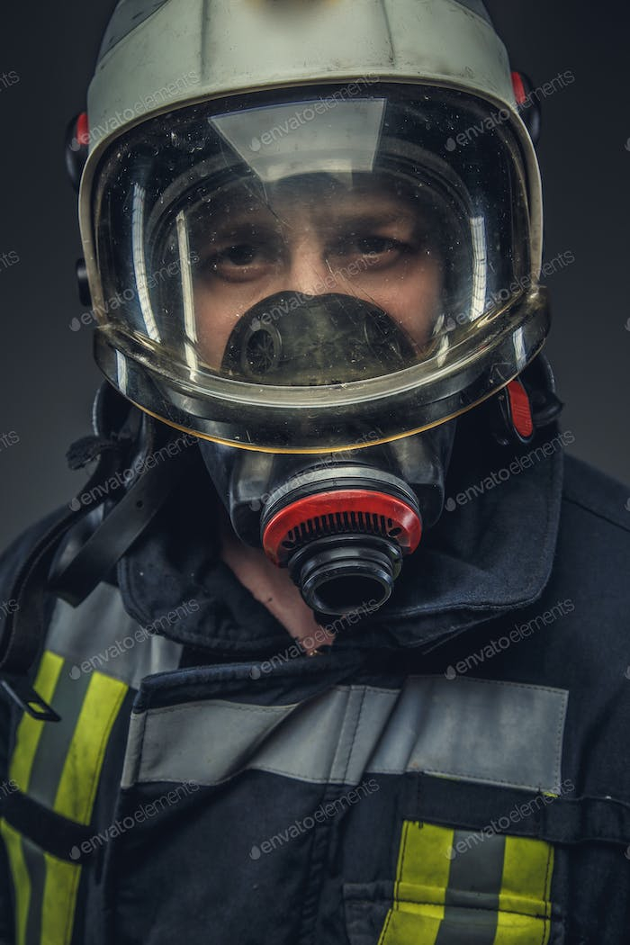 Portrait of rescue firefighter.