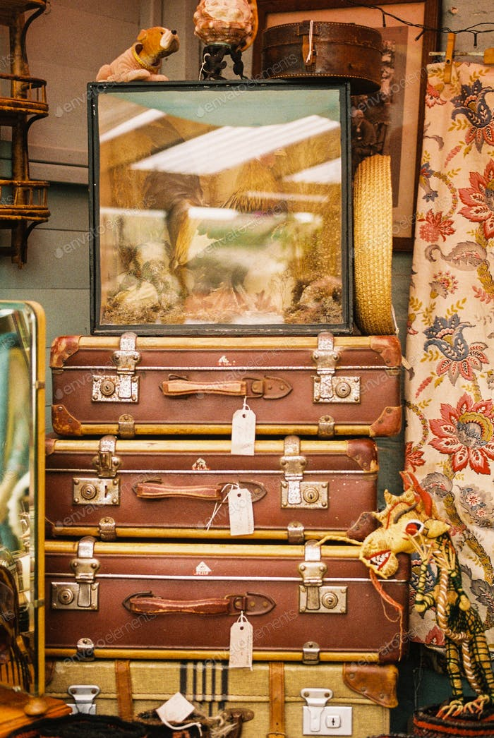 Stack of Suitcases For Sale